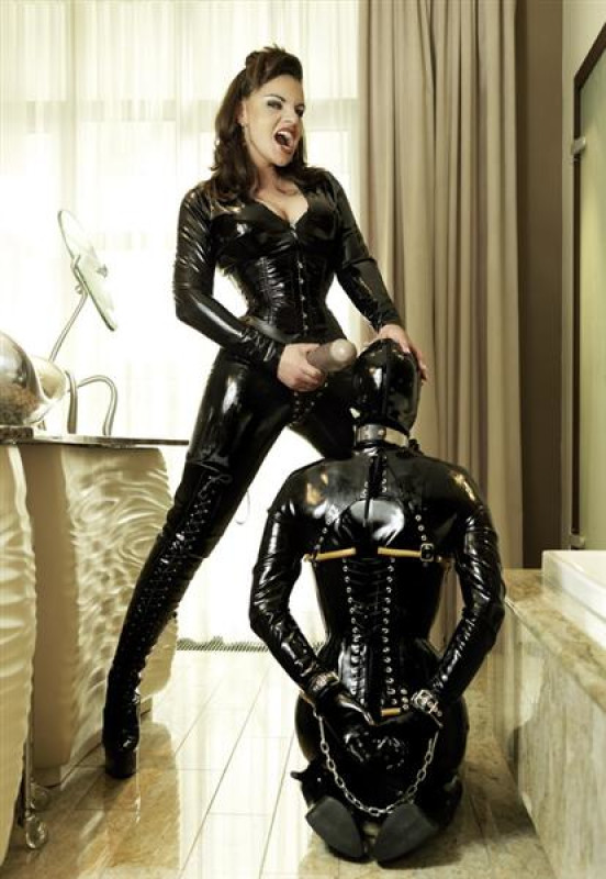 Naked latex maids for mistress
